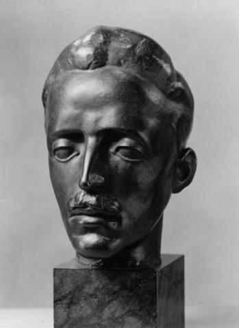 Ernst Gubler. Bildnis Karl Stamm 1919. Steinguss. Höhe 29,5 cm