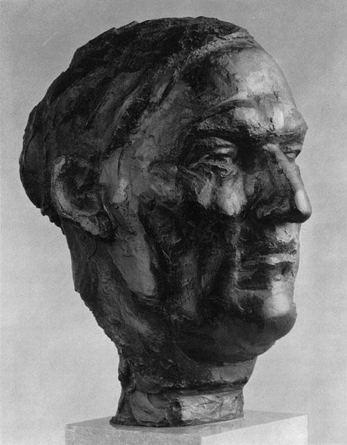 Ernst Gubler. Bildnis Max Gubler. 1950-55 Bronze. Höhe 33,6 cm