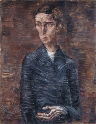 Eduard Gubler. Bildnis Th. Ernst Gabler 1918. Öl auf Leinwand. 80,5 x 63 cm