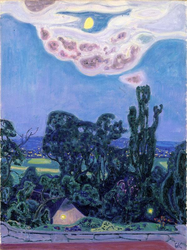 Eduard Gubler. Mondnacht. Um 1965. Öl auf Leinwand. 81 x 60 cm