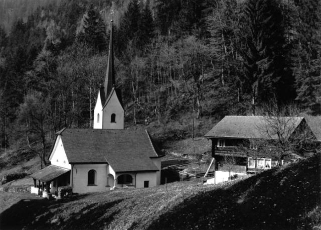 Riedertal, Bürglen, Kanton Uri Kapelle und Sigristen-Haus
